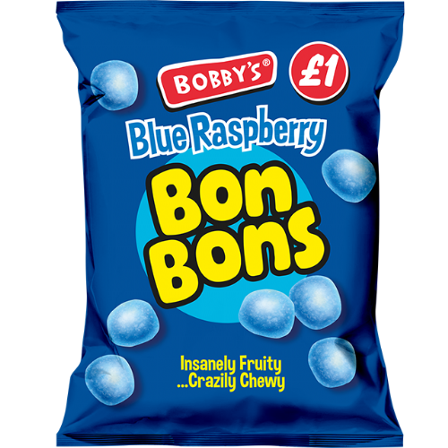 Bobby's Blue Raspberry Bon Bon 150g Packet (UK)